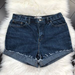 Vintage denim high waisted shorts